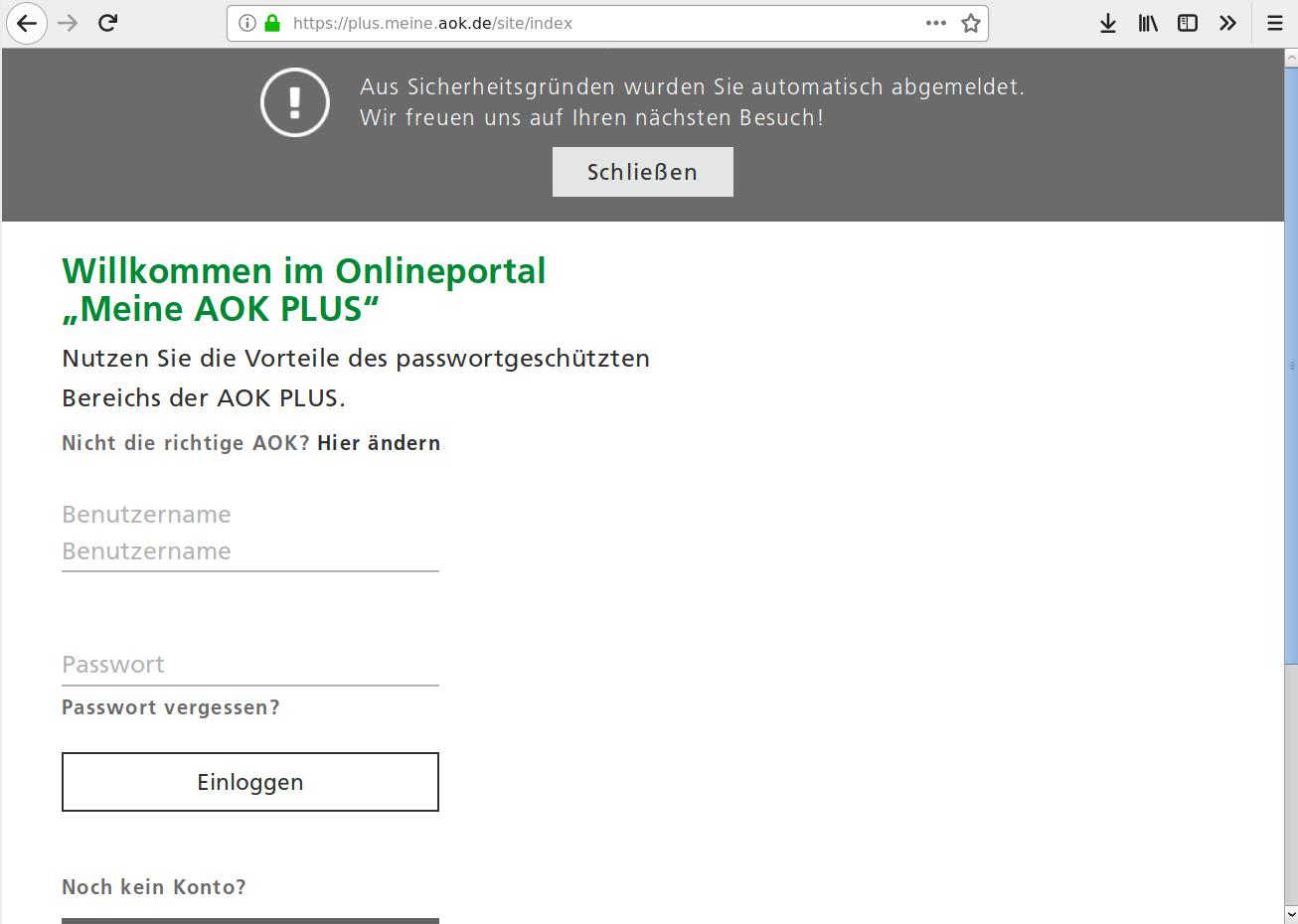 aok plus online-filiale