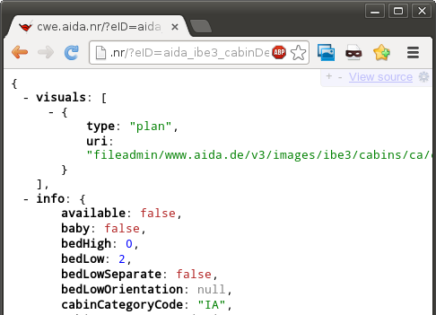 Displaying JSON in your browser