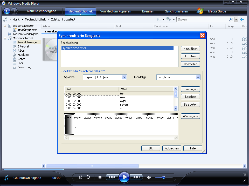 how to add lyrics in windows media player