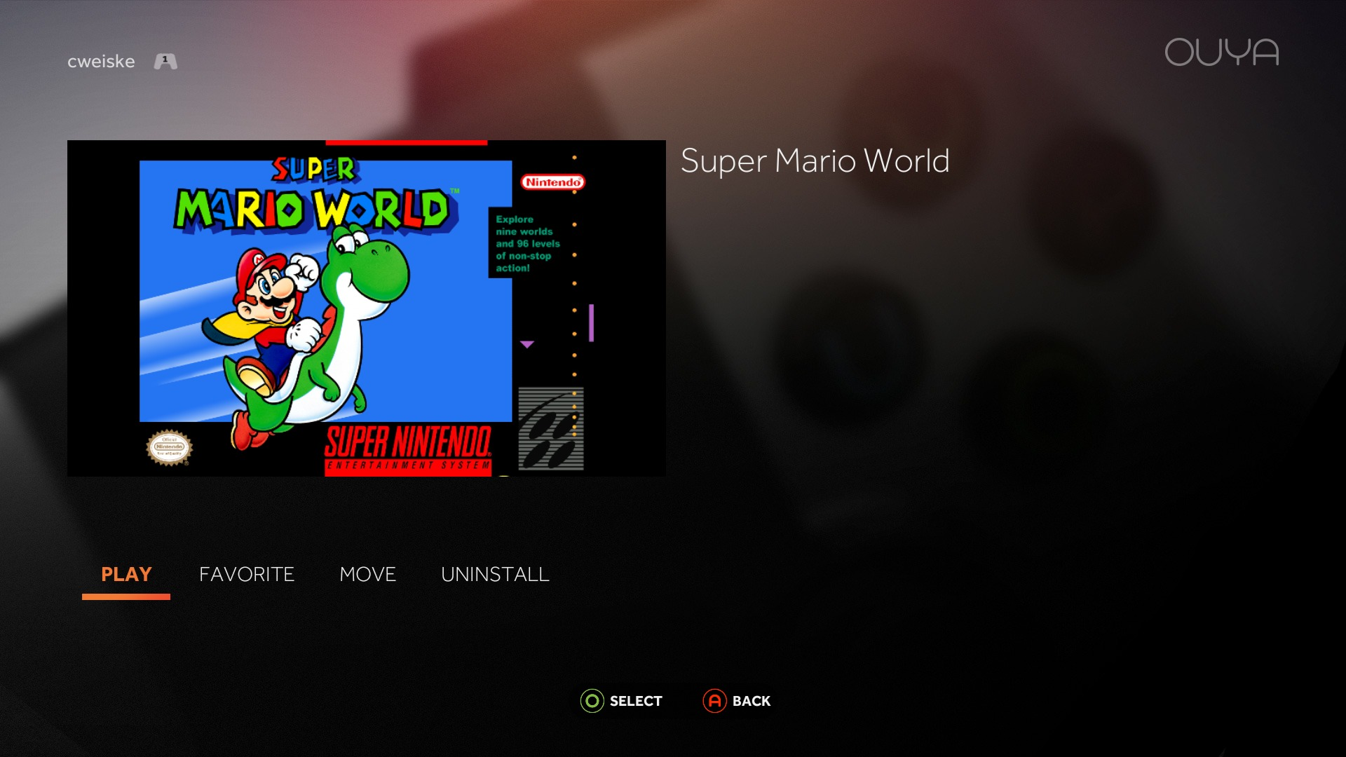 Making SNES ROMs easily runnable on OUYA