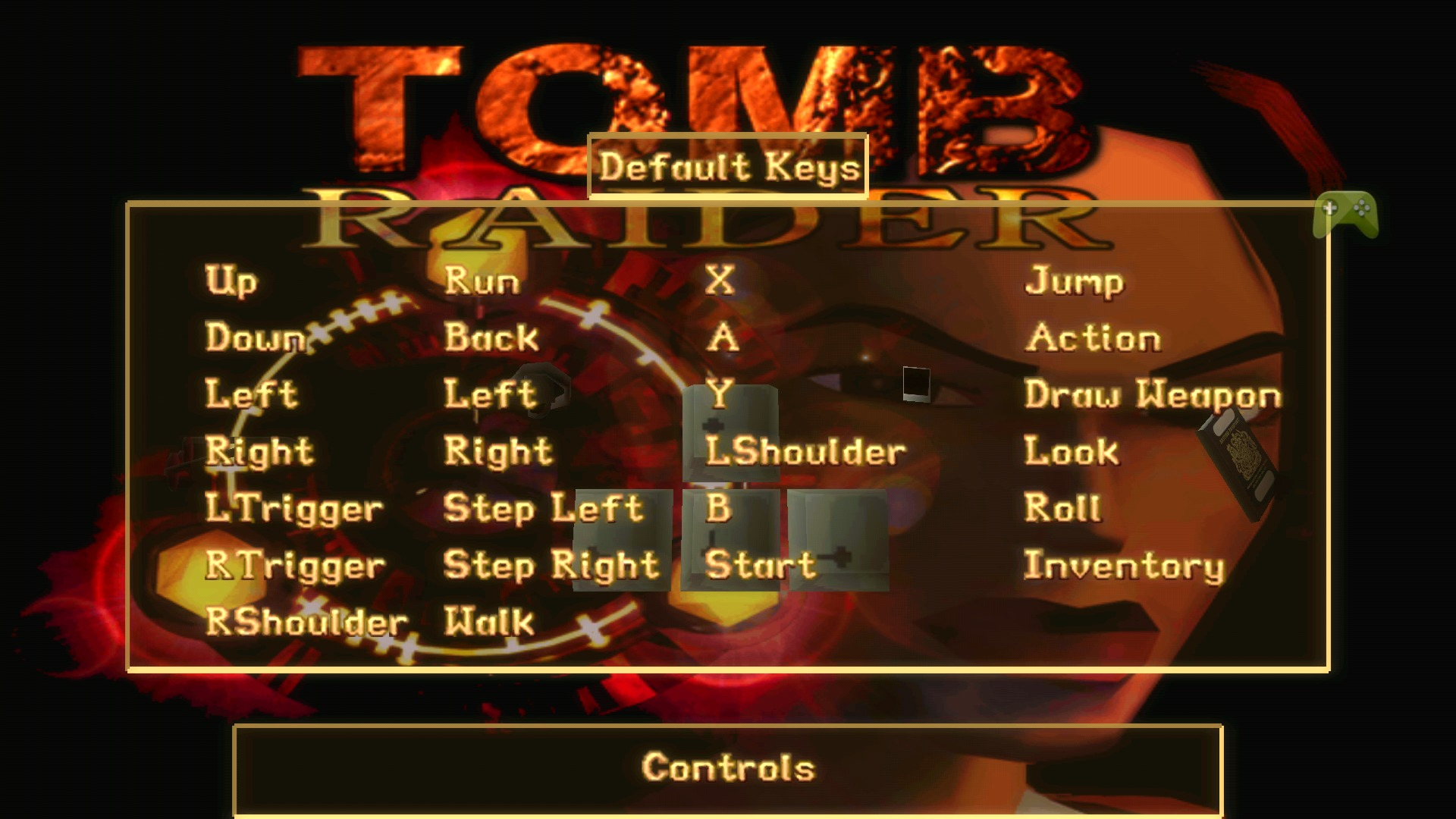 tomb raider 2 ps1 controls