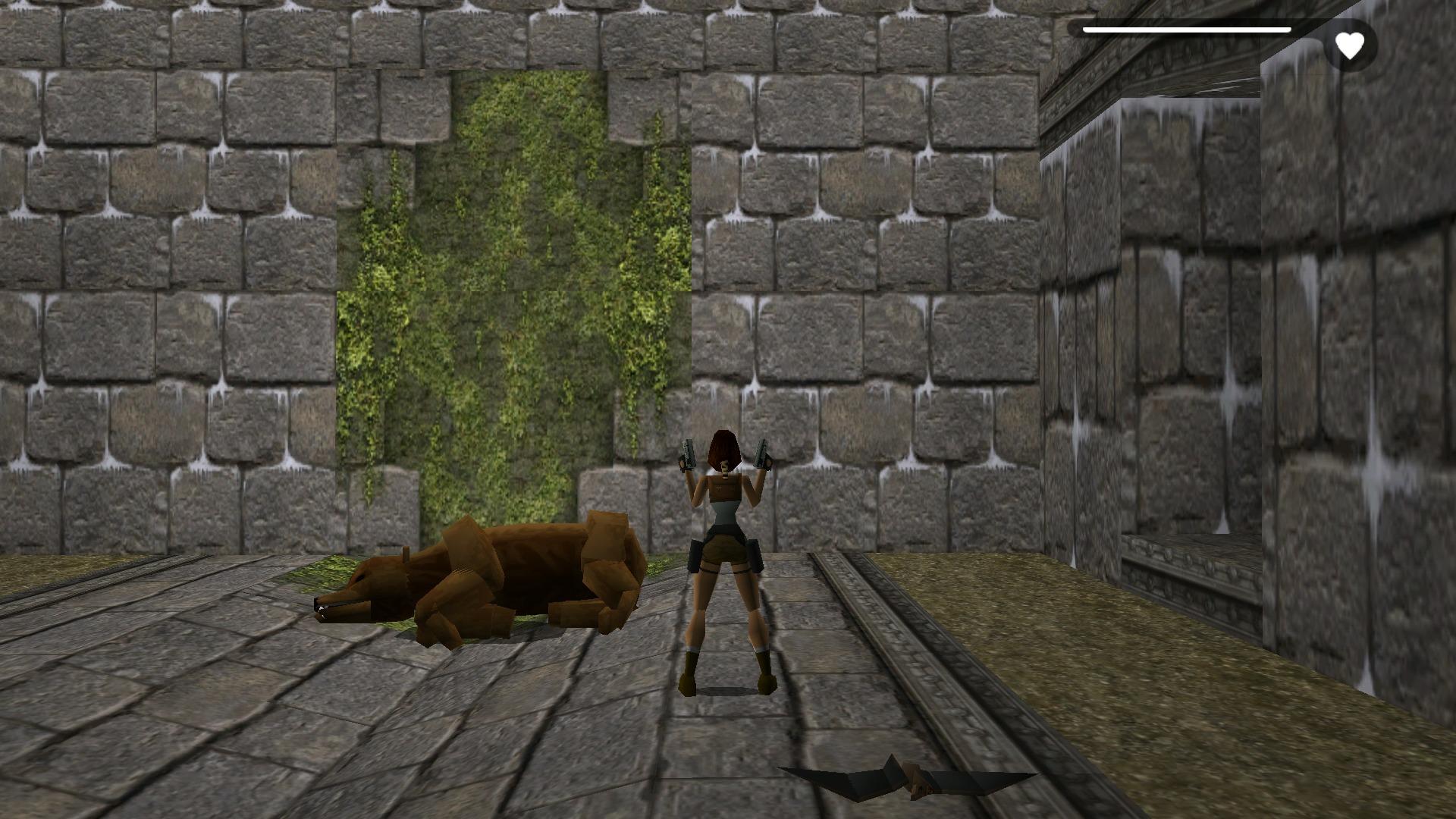 playing tomb raider 1 on ouya