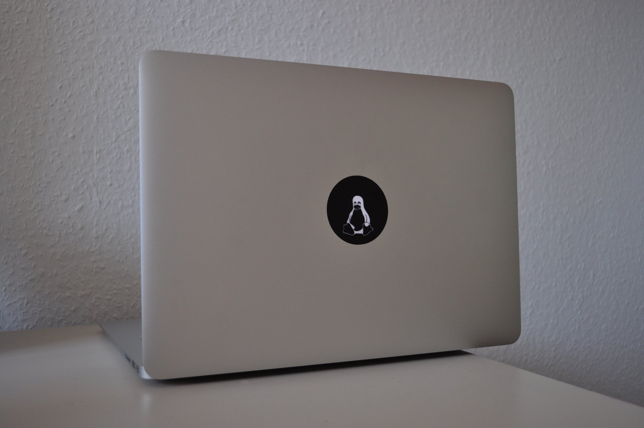 Tuxbook Glowing Tux Sticker For The Macbook Air